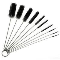 10Pcs Set Nylon Straw Brush Cleaner Bottle Tube Pipe Small Long Cleaning Kit