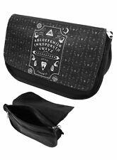 Darkside Cosmetic Bag Ouija Board Zip Up Makeup Purse Rockabilly Punk Goth Black
