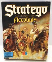 """5.25"""" Stratego IBM PC and TANDY The Computer Game Accolade 1990 Milton Bradley"""