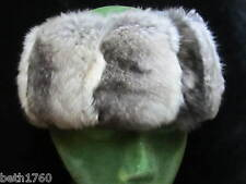 NEW GENUINE EMPRESS CHINCHILLA FUR HEADBAND HAT