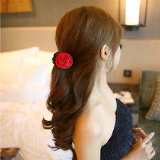 Korean Women Bow Jaw Clip Hair Claw Gift Rose Flower Barrette