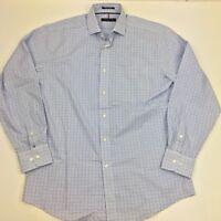 Tommy Hilfiger Plaid Long Sleeve Button Front Dress Shirt Men's 15 34/35