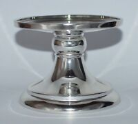 BATH & BODY WORKS SILVER CHROME PEDESTAL LARGE 3 WICK CANDLE HOLDER STAND 14.5OZ
