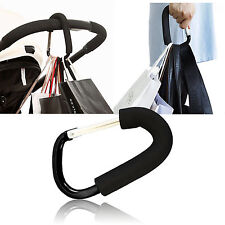 Pushchair Hook Clip Large Buggy Pram Shopping Bag Strong Mummy Carry UK