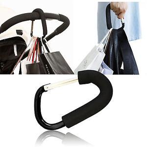 Pushchair Hook Clip Large Buggy Pram Shopping Bag Strong Mummy Carry Carabiner