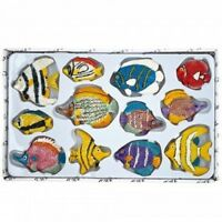 Decorative Fish Magnets Set - One Set w/Random Color and Design