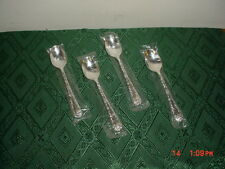 "4-PIECE WM ROGERS & SONS ""SILVER PLATE"" 6"" TEA SPOON SET/WRAPPED/NEW/FREE SHIP!"