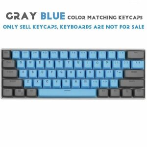 61-Key PBT Lakers Keycaps Mechanical Keyboard Keycap For GH60 RK61 Annie Cherry