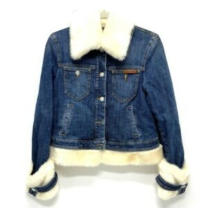 DOLCE&GABBANA With fur Denim Jacket Denim blue