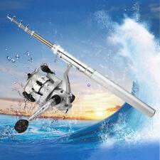 Mini Pocket Fish Pen Shape Aluminum Fishing Rod Pole & Reel with Nylon Line Set