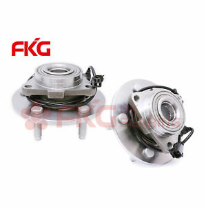 Front Driver Left and Passenger Right 5 Lug w//ABS excludes Extended//Crew Cab Machter 515073 Hub Assembly x2 Compatible with 2002 03 04 2005 Dodge Ram 1500 Wheel Bearing 2WD// 4WD