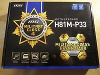 MSI H81M-P33 Intel H81 Chipset LGA 1150 Socket DDR3 mATX MicroATX Motherboard