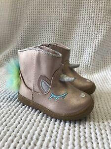 Cat & Jack Leticia Toddler Girls Size 5 Unicorn Metallic Pink Ankle Boots New