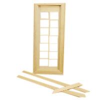 DIY 1:12 Dollhouse Miniatures Wood Door Unpainted Doll House Furniture Room R2G5