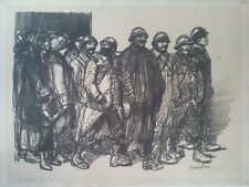 Lithographie Theophile Alexandre Steinlen sign/n°Guerre 14 -18  Soldats Poilus