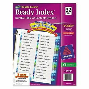 AVERY BINDER DIVIDER POCKETS PLASTIC INSERTABLE 5 8 12 24 TABS BIG 1 6 PACKS
