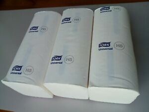 3 x pack White Paper Hand Towel Tork PeakServe Continuous 100585 H5 1 ply Z fold