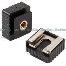 "2X Flash Hot Shoe Mount Adapter 1/4"" Thread for Studio Light Stand Tripod Holder"