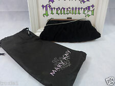 """Mary Kay Black Velvet Evening Bag With Storage Bag """"Holdiday Wishes""""  New"""
