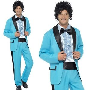 Mens 1980s Prom King Fancy Dress Costume Wedding Singer Outfit by Smiffys