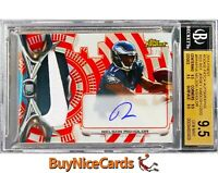 2015 Nelson Agholor Topps Finest Refractor Nike Patch RC Rookie 1/1 Auto BGS 9.5