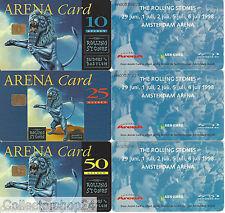 Netherlands Arena cards : Rolling Stones Concert 1998 set Art.A020