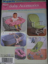 Baby Shopping Cart Cover Car Seat Glider Cushion Simplicity 4636 Sewing Pattern
