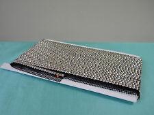 Rhinestone Trim Crystal Banding Silver-Black Net 50%OFF