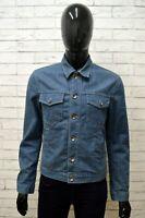 Giubbino Jeans RIFLE Uomo Taglia Size M Giubbotto Giacca Jacket Man Cotone Blu