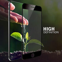 TOP BLACK Curved 3D Tempered Glass Screen Protector For Apple iPhone 7 - TPU Gel