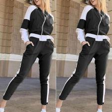 Women Tracksuits Casual Long Sleeve Zipper Jacket + Slim Fit Trousers Sports Set