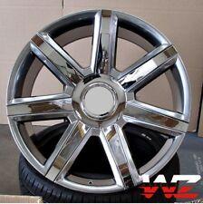 "24"" CA87 Style Chrome Spoke Wheels Fits Cadillac Escalade Platinum ESV EXT Rims"