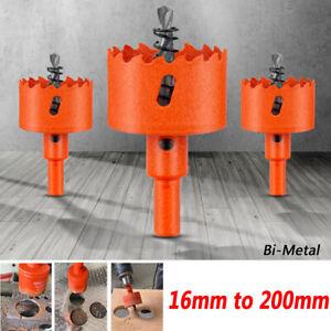 16mm to 200mm Bi-Metal Hole Saw Bit Cutter Drill Bits for Wood Plastic Metal PVC