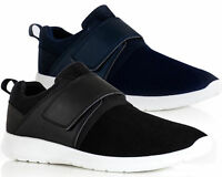 Mens Trainers Lightweight Touch Fasten Slip On Smart Casual Comfortable Shoes