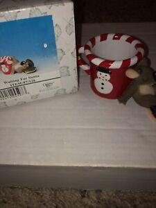 "Charming Tails ""WAITING FOR SANTA"" FITZ & FLOYD CHRISTMAS"