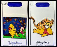 Disney Parks 2 Pin lot Winnie Pooh & Piglet rain slider + Tigger too! New