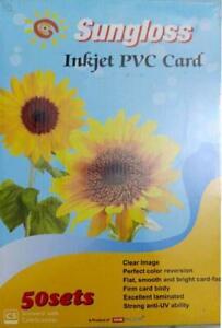 Sungloss Dragon Sheet for PVC ID Card - Premium 1440 DPI HD Quality | Set of 50