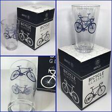 Greenline Goods - Bicycle Beer or Sweet Tea Glass 16 Oz Drinkware BLUE GLASS