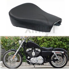 Black Driver Solo Seat Leather For Harley Sportster Iron 1200 883 Models 2007-14