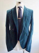 NEW $3315 Haider Ackermann Velvet 38R/48R Green Velvet Double Breasted Jacket