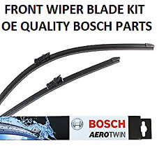 Audi TT Front Windscreen Wiper Blade Set 2014 Onwards BOSCH AEROTWIN