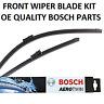 Audi TT Front Windscreen Wiper Blade Set 2006 to 2015 BOSCH AEROTWIN