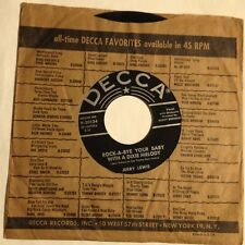 Jerry Lewis 45 Rock-A-Bye Your Baby With A Dixie Melody /Come Rain Or Come Shine