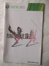 54622 Instruction Booklet - Final Fantasy XIII-2 - Microsoft Xbox 360 (2012)