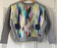 Molo Denmark Girls 'Magnolia' Multi Wash + Grey Sweatshirt Top 8 Years 128cm VGC