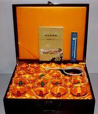 De Lujo 24 Piezas Set Magnético Acupuntura terapia de ahuecamiento en Marrón Estuche de madera