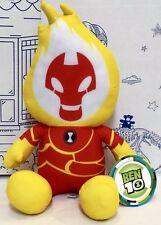 New Ben 10 Ten Cartoon Network Plush 11'' Toy Heat Blast Fire Stuffed Animal NWT