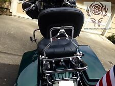 Detachable Sissy Bar w/ luggage rack for Harley HD Touring Family97-08 FLHR FLHT