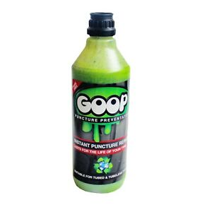 Goop Tyre Puncture Sealant Puncture Preventer / 500ml Bottle / Made in UK