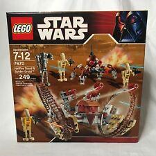 Lego Star Wars The Clone Wars Hailfire Droid & Spider Droid (7670)